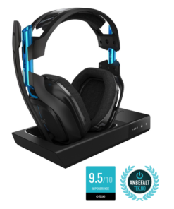 ASTRO - A50 Wireless + Base Station Gaming headset 7.1 PS4/PC shop tilbud